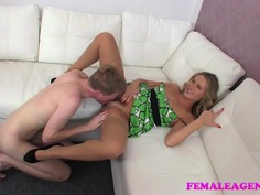 FemaleAgent Skinny stud meets experienced naughty MILF