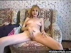 Dirty Blonde Fingers Her Pussy