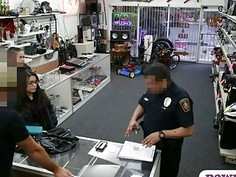 Couple bitches try to steal and banged by nasty pawn man