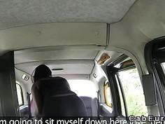 Ebony dance banged in fake taxi