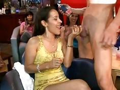 Darlings receive to sample stippers hard cocks