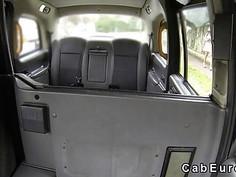 Ebony caught cab driver wanking
