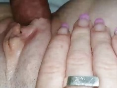 Shaved pussy Rammed Closeup