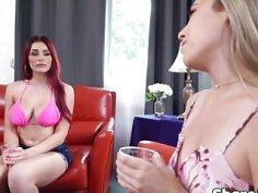 Kimber And Skyla Sharing Long Schlong In Threesome