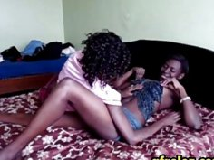 It is boring afternoon so these hot ebony lesbians decide to spice it up a little
