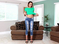 Exotic teen masturbates with a small toy