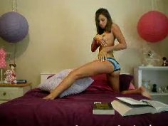 Nasty chick performs her first homemade video