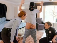Cops Blair Williams and Scarlett Johnson caught burglar Jessy Jones