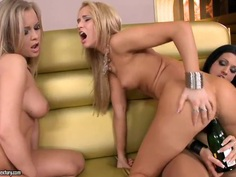 Lesbian party with Abbie Cat, Aleska Diamond, Aletta Ocean