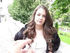 Cute Czech girl Angelina Brill pounded