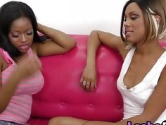 Very hot ebony lesbian chick enjoy pussy licking and satisfying with a vibrator