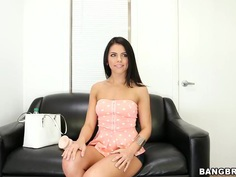 Amazing Adriana Chechik stripping and masturbating