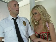 Alektra Blue and Victoria White handle strict police officer