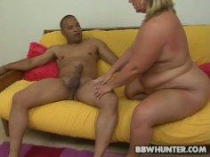 BBW mom Rylee bounces on a massive stick