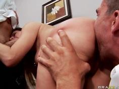 Hot gangbang oral scene with adorable girl Rachel Roxxx