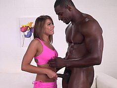 Drooling beauty blows a BBC