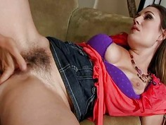Hairy Rucca Page shows off her blowjob skill