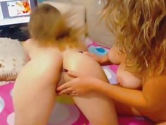 Two Beautiful Lady Licks And Finger Their Pussy