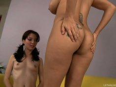 Busty milf Raylene eats the fresh pussy of Jessi Palmer