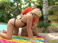 Katie Banks gives deep throat to Preston Parker