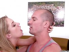 Fat ass blonde Candice Dare gets doggystyle fucked