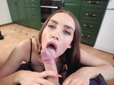 Russian Luxury Girl gives hot blowjob in POV