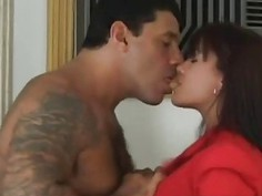 Brunette hottie from Brazil has long time without fucking